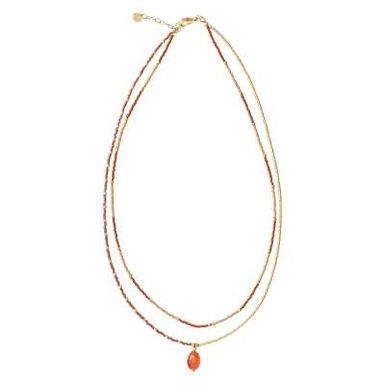Rainbow Karneol Gold Halskette
