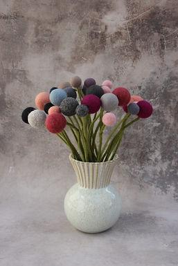Filzblume 2er-Set Gross Blume, dunkler Lavendel