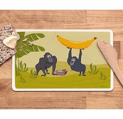 Frühstücksbrettchen Gorillas