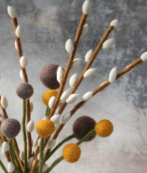Filzblume 2er-Set Gross Blume Dunkel Lila