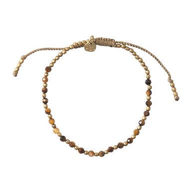 Schönes Tiger Eye Gold Armband