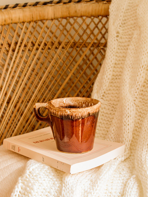 Tasse à café Brown Drip Glaze