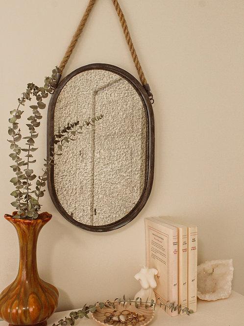 Miroir vintage texturé