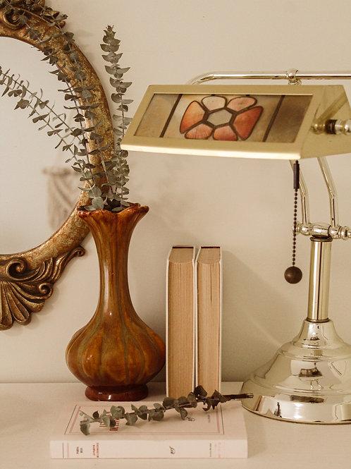 Lampe antique en laiton