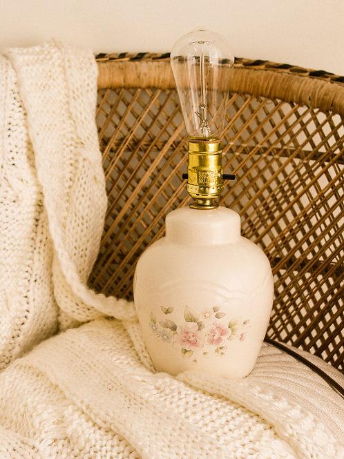 Lampe en porcelaine vintage