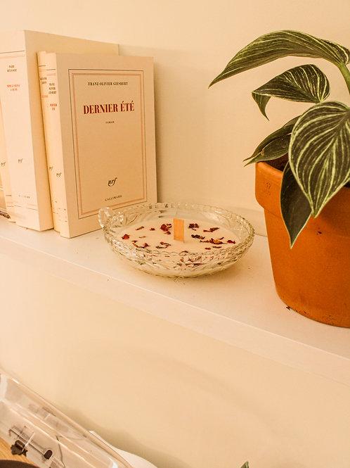 Bougie de soja vanille et hibiscus