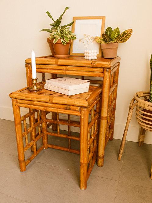 Tables gignognes (2) en rotin
