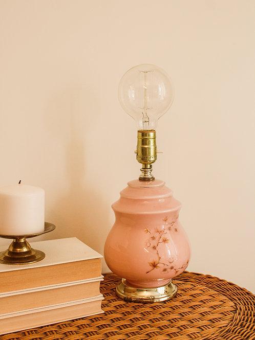 Lampe vintage rose