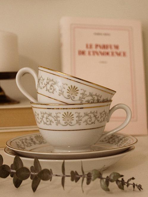 Duo de tasses à thé vintage