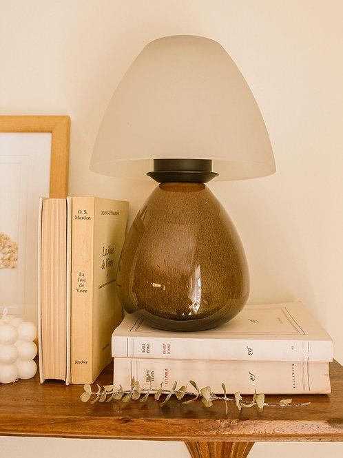 Lampe (bougeoir) champignon en céramique