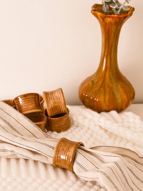Anneaux à serviettes en céramique