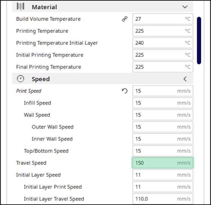 3D Printing Cura Settings - TPU