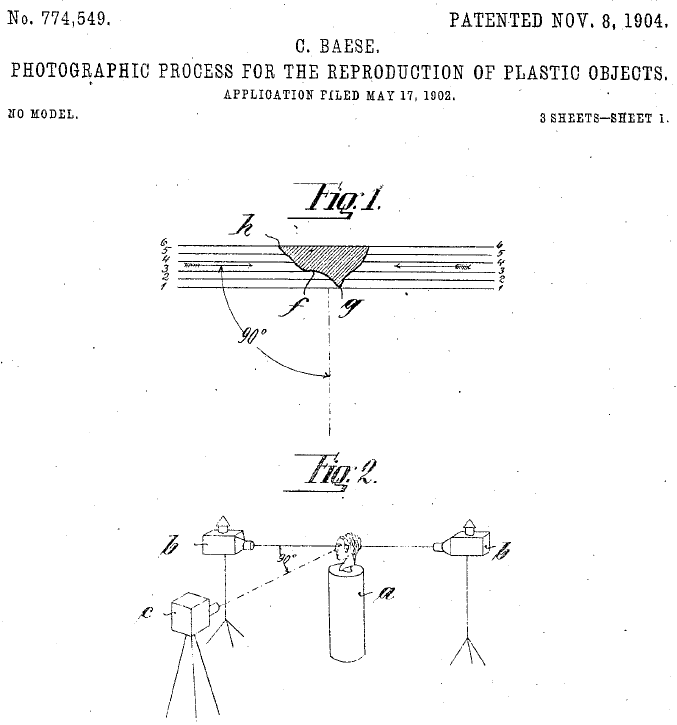 Baese Patent for Photographic Reproduction of Plastic Objects
