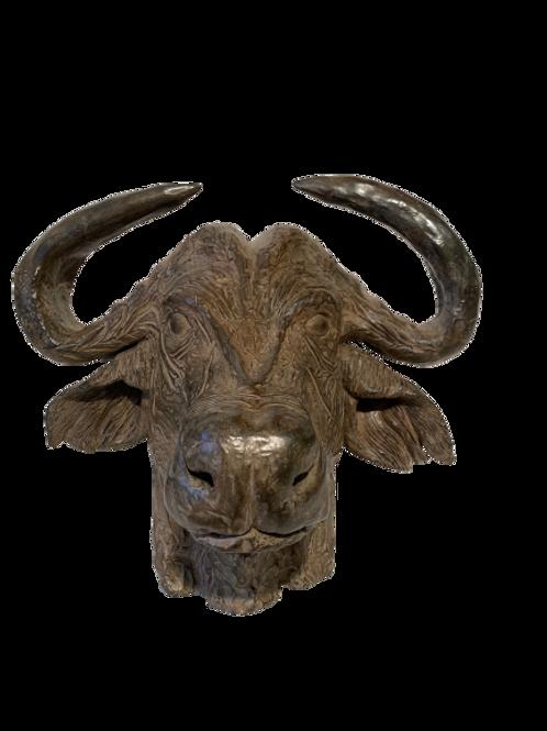 Bronze Tête de buffle