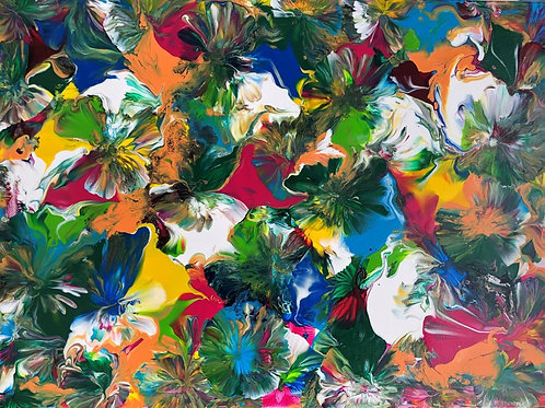 Fleurs multicolores 2