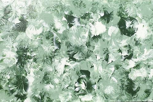 Fleurs vert amande