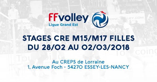 STAGES CRE M15/M17 FILLES AU CREPS DE LORRAINE