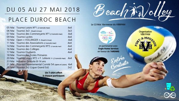 23e EDITION DU BEACH VOLLEY DE PONT-A-MOUSSON