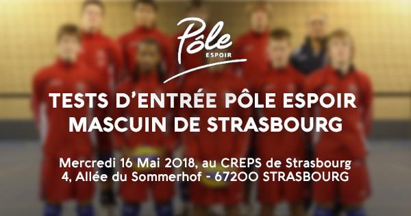 TESTS D'ENTRÉE AU PÔLE ESPOIR MASCULIN DE STRASBOURG
