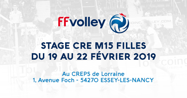 STAGE CRE M15 FILLES AU CREPS DE LORRAINE
