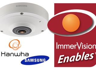 Câmeras 360º Samsung Wisenet passarão a ter certificação ImmerVision Enables