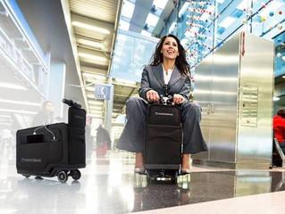 Troca de papéis: mala inteligente carrega o usuário pelo aeroporto