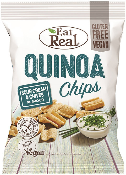 EAT REAL - Quinoa Chips Sour Cream & Chives 30GR
