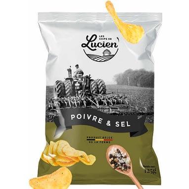 Les Chips de Lucien - Saveur Poivre & Sel