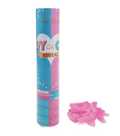 CONFETTI SHOOTER 20CM BABY PINK