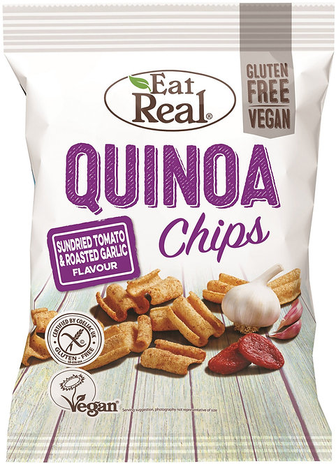 EAT REAL - Quinoa Chips Tomatoes & Roasted Garlic 30GR
