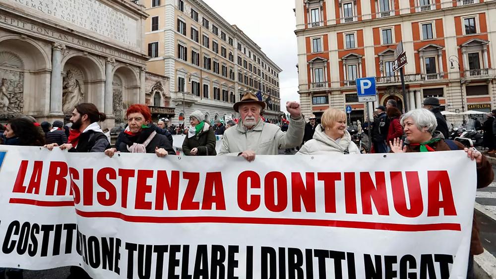 مظاهرات مناهضى الفاشية