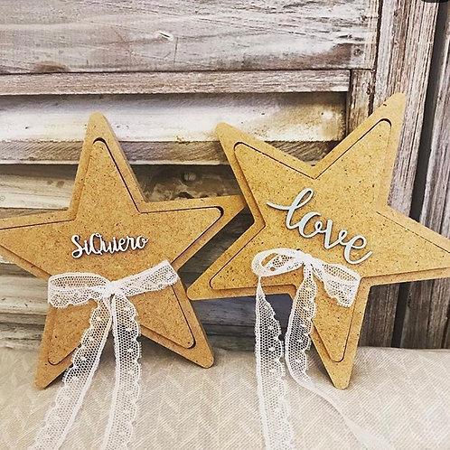 Caja estrella porta alianzas