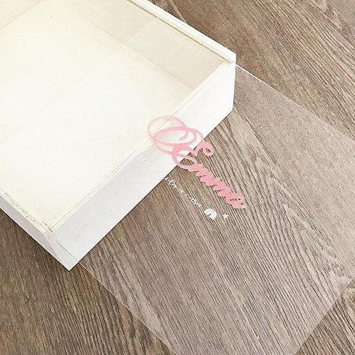 Caja nacimiento personalizada tapa transparente (sin producto)