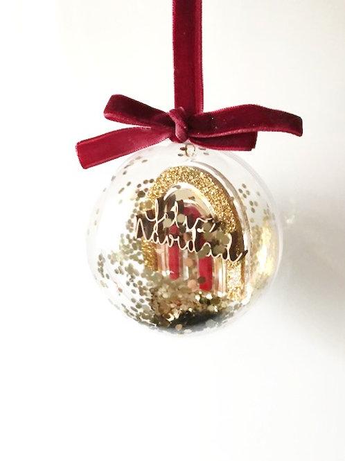 Bola Navidad Arcoiris Personalizada