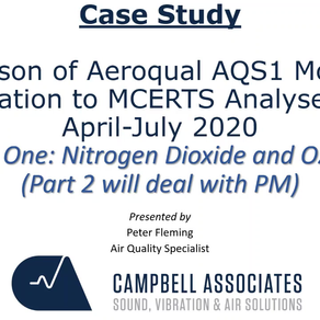 AQS-1 COMPARISON TO MCERTS ANALYSERS WEBINAR OCTOBER 2020