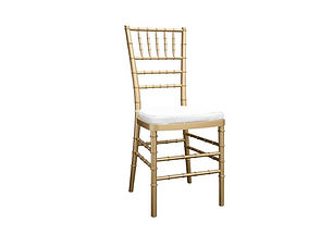 Gold Chiavar chair rentals in Toronto at the best prices.