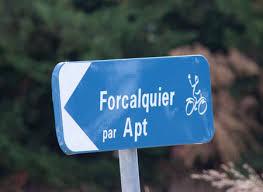 Panneau indicateur Lubéron à vélo