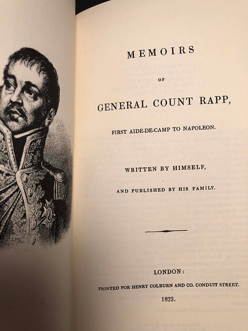 Memoirs of General Count Rapp