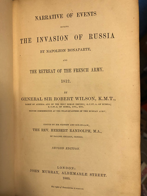 Narrative of events during the invasion of Russia by Napoleon Bonaparte