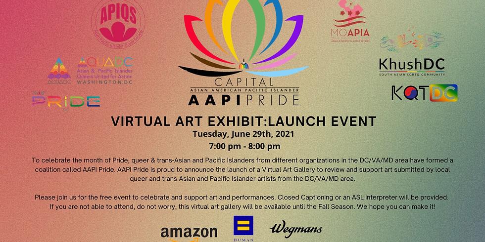 AAPI Pride Virtual Art Exhibit: Launch Event