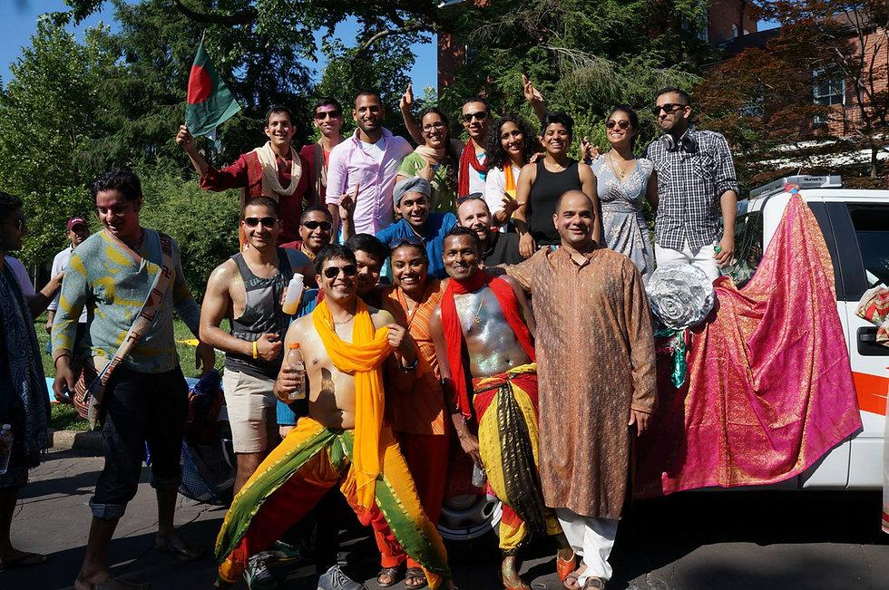 Picture of various KhushDC members at Pride