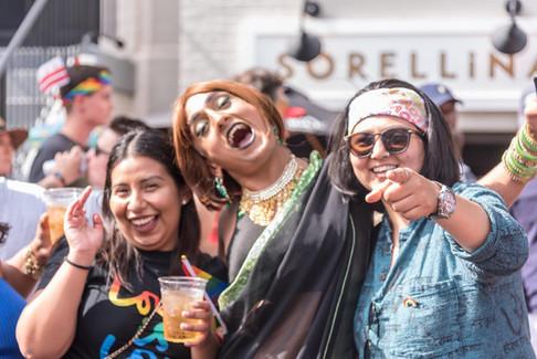 3 Khushies smiling and posing at Pride