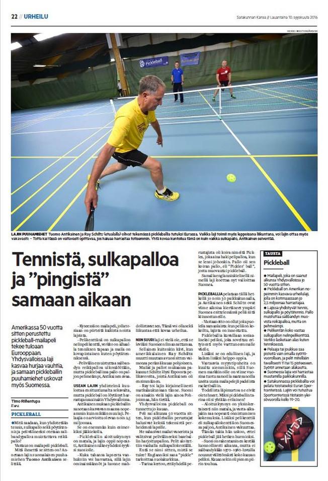 """""""Tennistä, sulkapalloa ja pingistä samaan aikaan"""""""