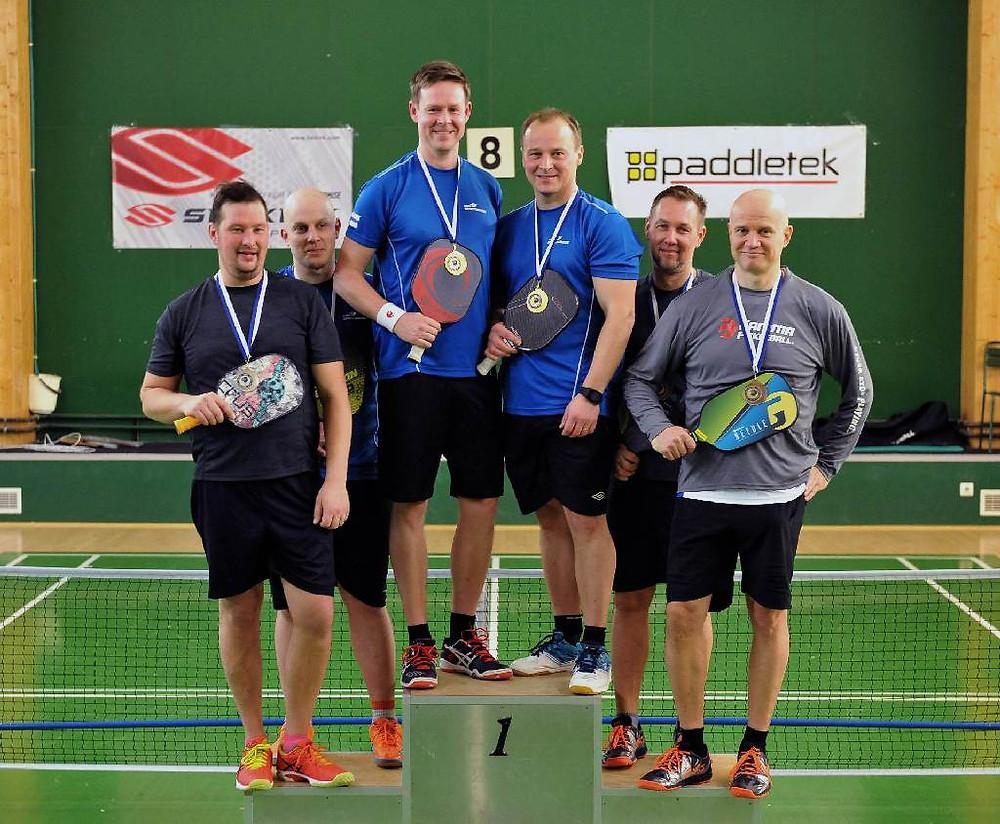 Pickleball Finland Xmas Games 2018 – miesten nelinpelin mitalistit