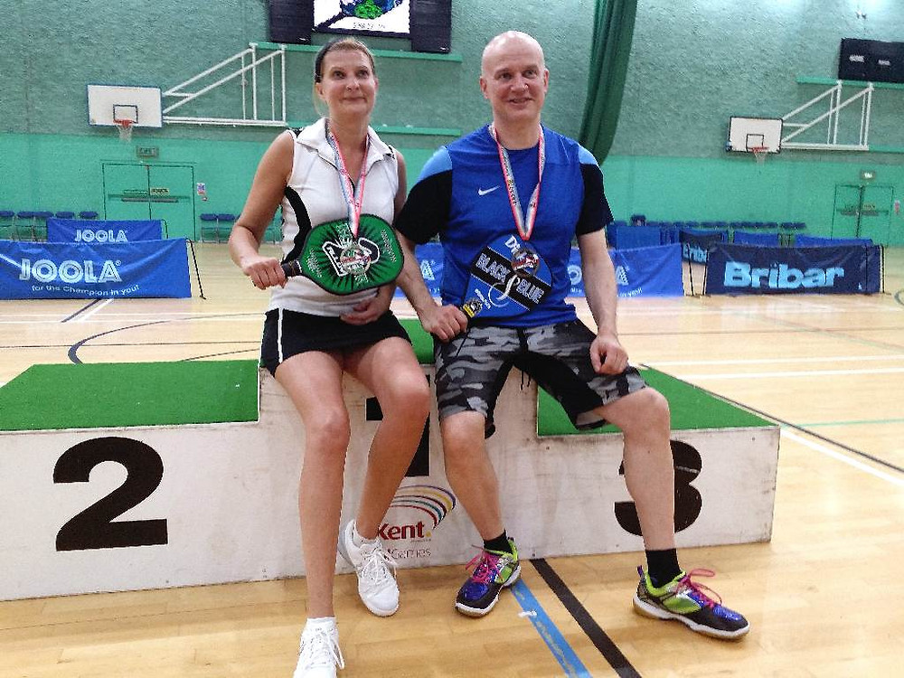 Pickleball gold medalists from Finland!