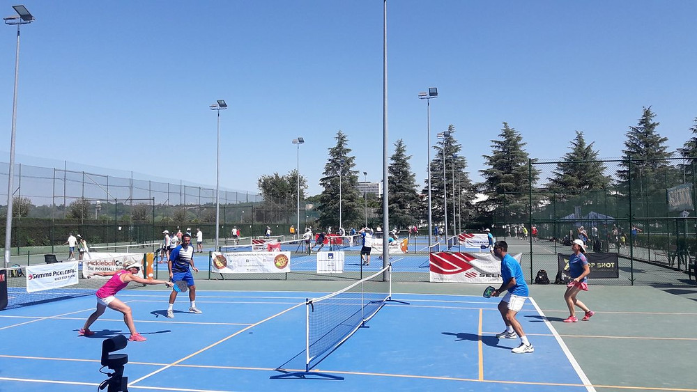 Pickleball Spanish Open Club de Campon tennispuistossa Madridissa.