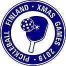 Turnauksen logo Xmas Games 2019 sininen.