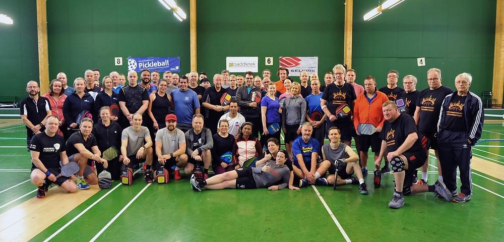 Pickleball Finland Xmas Games 2019 -osallistujat