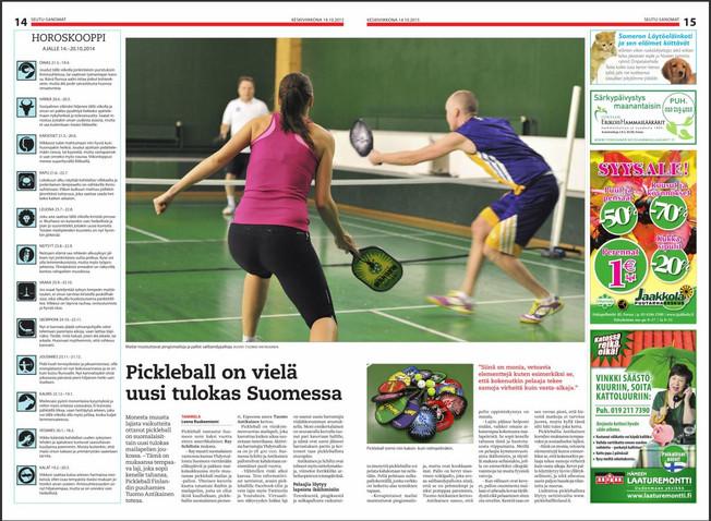 Pickleball on vielä uusi tulokas Suomessa