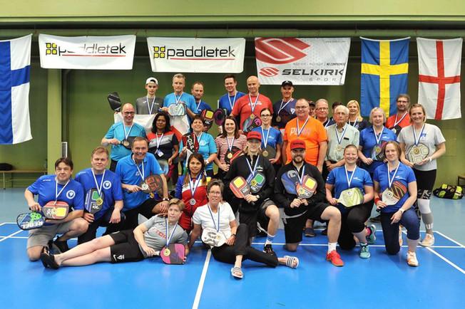 Pickleball Finnish Open 2019 – mitaleja Suomeen ja ulkomaille